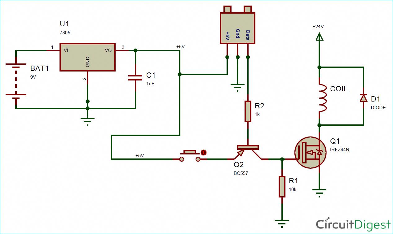 circuit diagram for electromagnetic coil gun electronicgadget [ 1268 x 756 Pixel ]