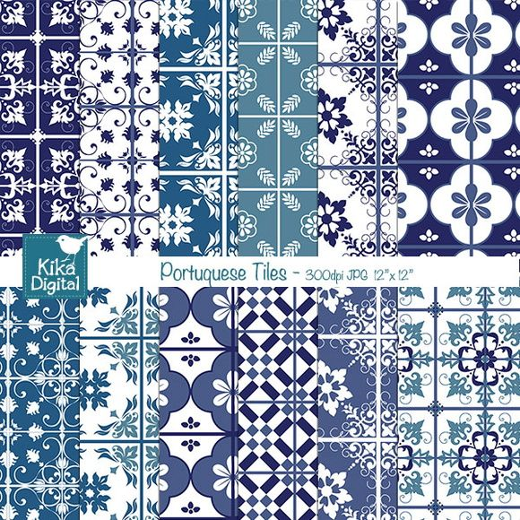 Papéis Digitais Azulejos Portugueses