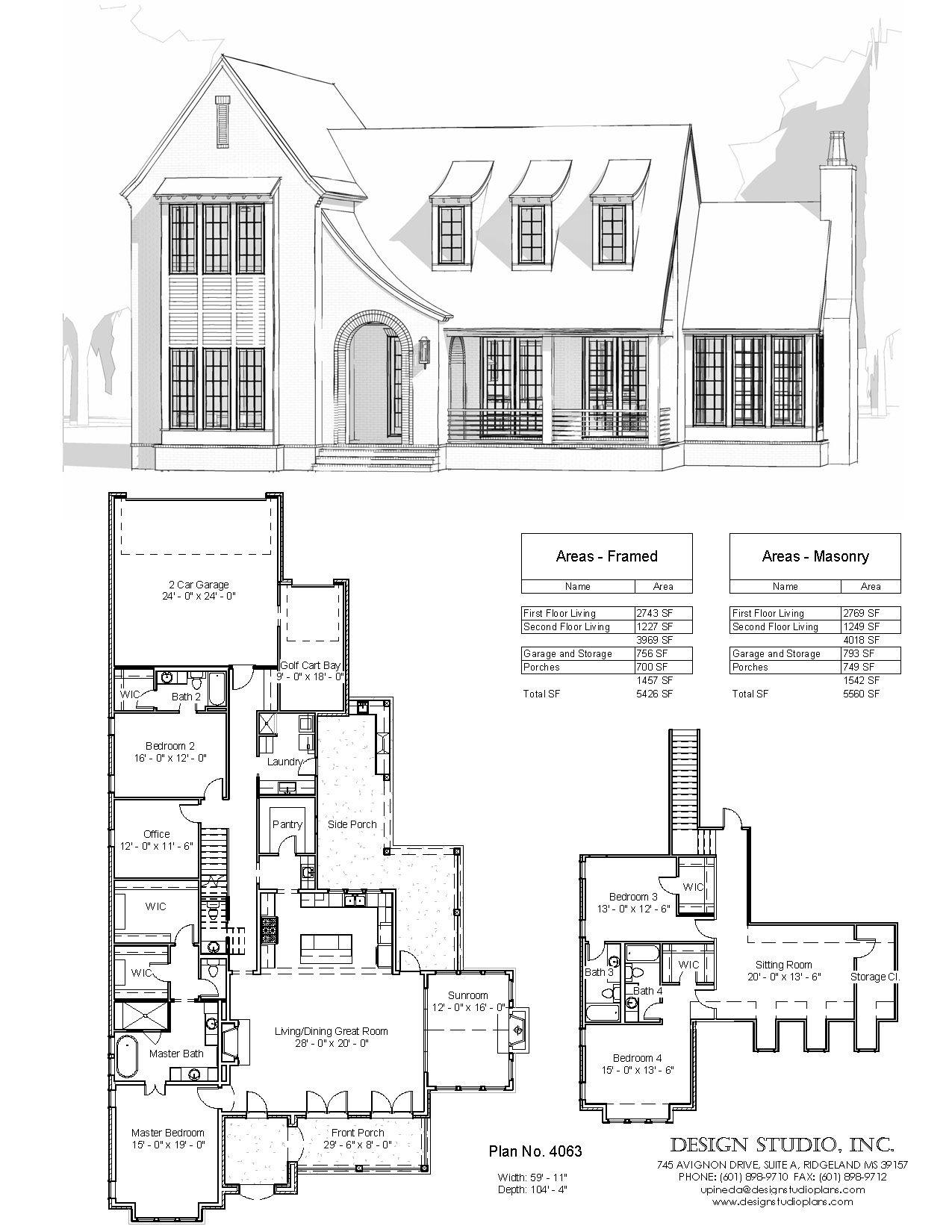 Plan 4063 Design Studio Family House Plans House Blueprints Dream House Plans