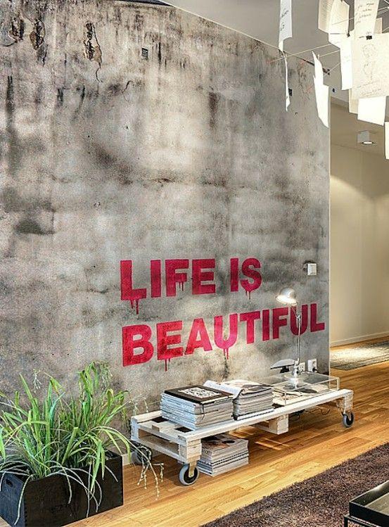 messages10 lepetitchouchou Art Pinterest Interiores, Recibidor - paredes de cemento