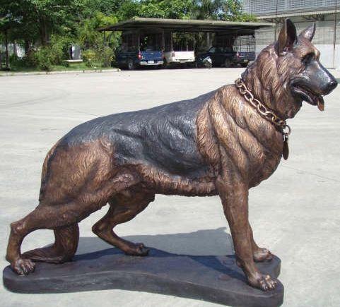 Custom Bronze German Shepherd Sculpture German Shepherd German