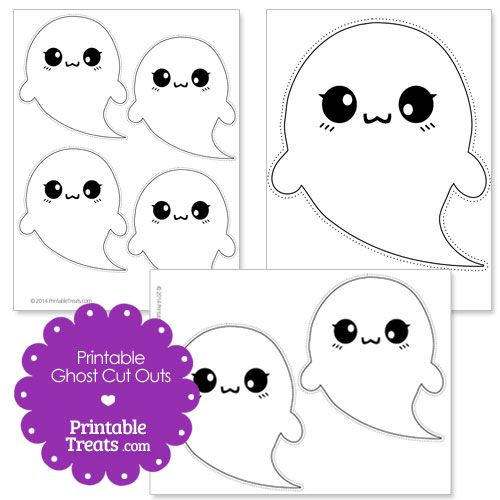 Free Printable Halloween Ghost Cut Outs from PrintableTreats