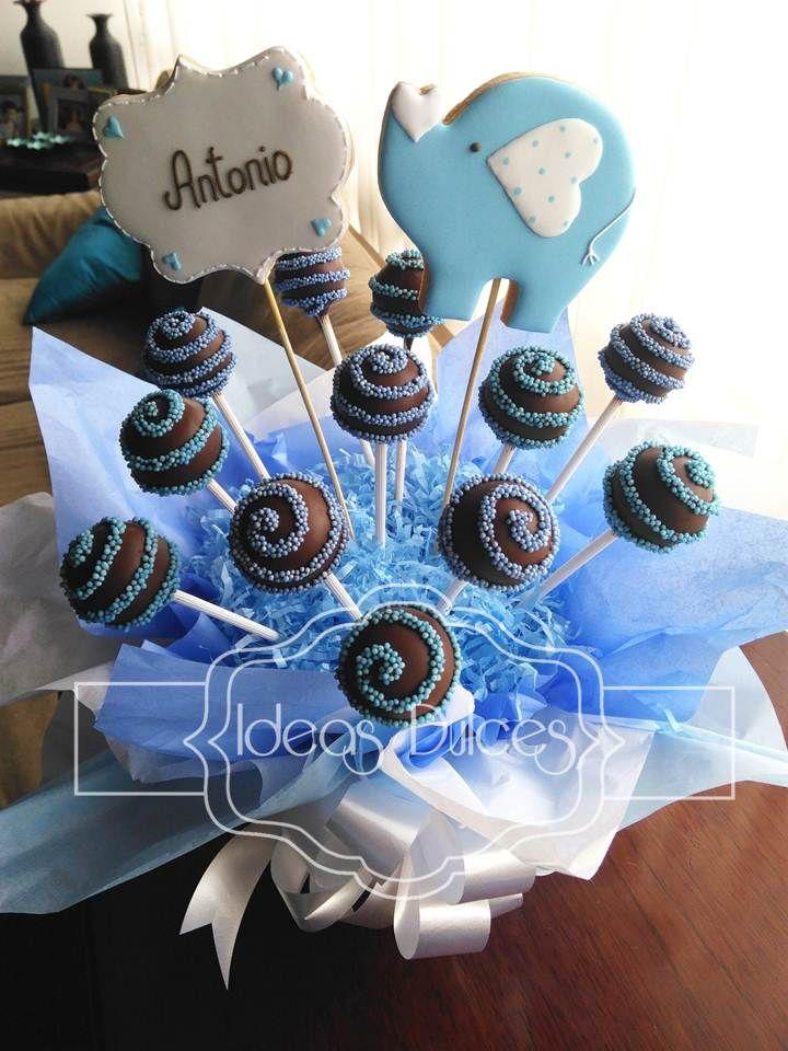 El Baby Shower De Antonio Cake Pops Baby Showers Y Arreglos De