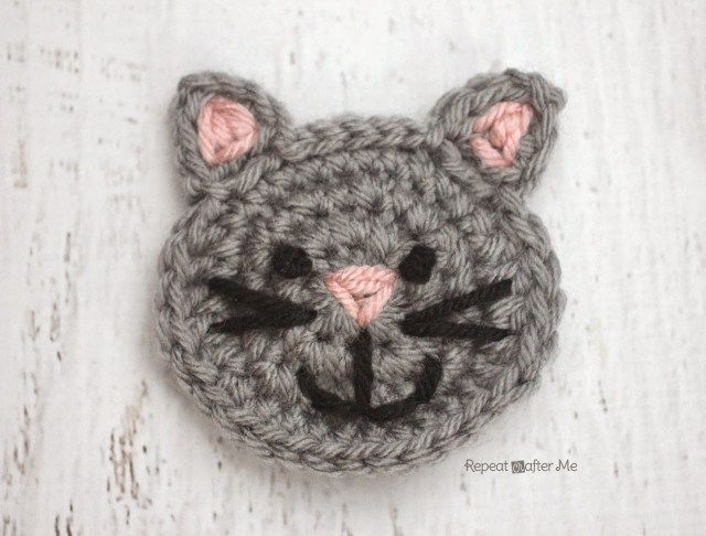 C Is For Cat Crochet Cat Applique Repeat Crafter Me Yarn Arts
