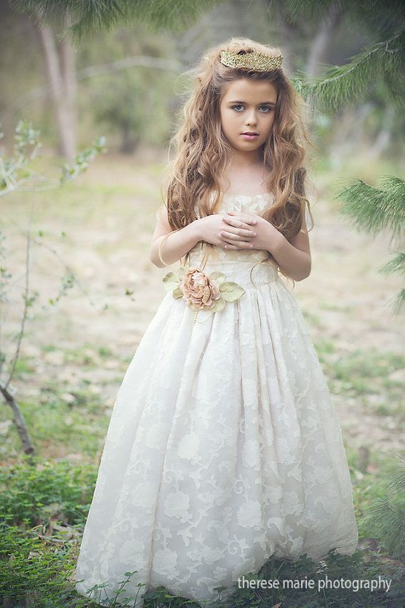 Communion Silk Dress-Flower Girl Ruby