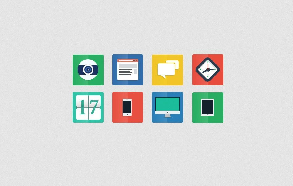 53 Gorgeous Sets Of Flat Design Icons Free Web Icons Flat Design Icons Icon Design