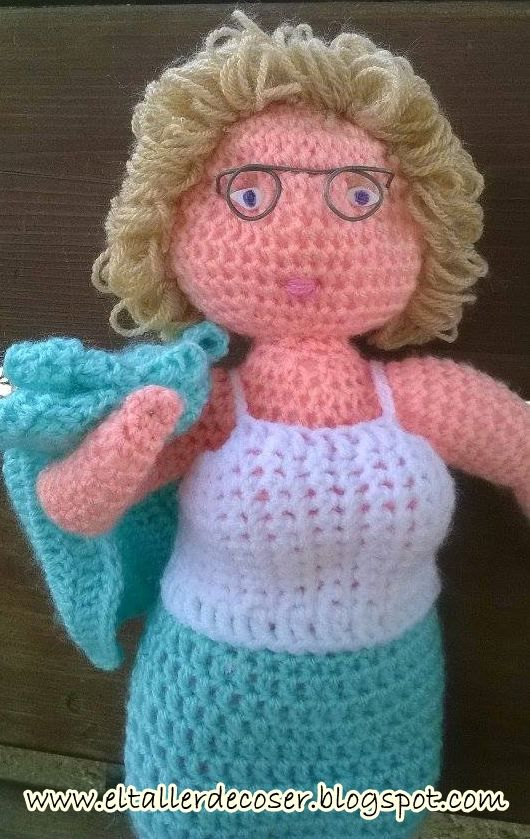 EL TALLER DE COSER: Muñeca personalizada | muñecas de ganchillo con ...