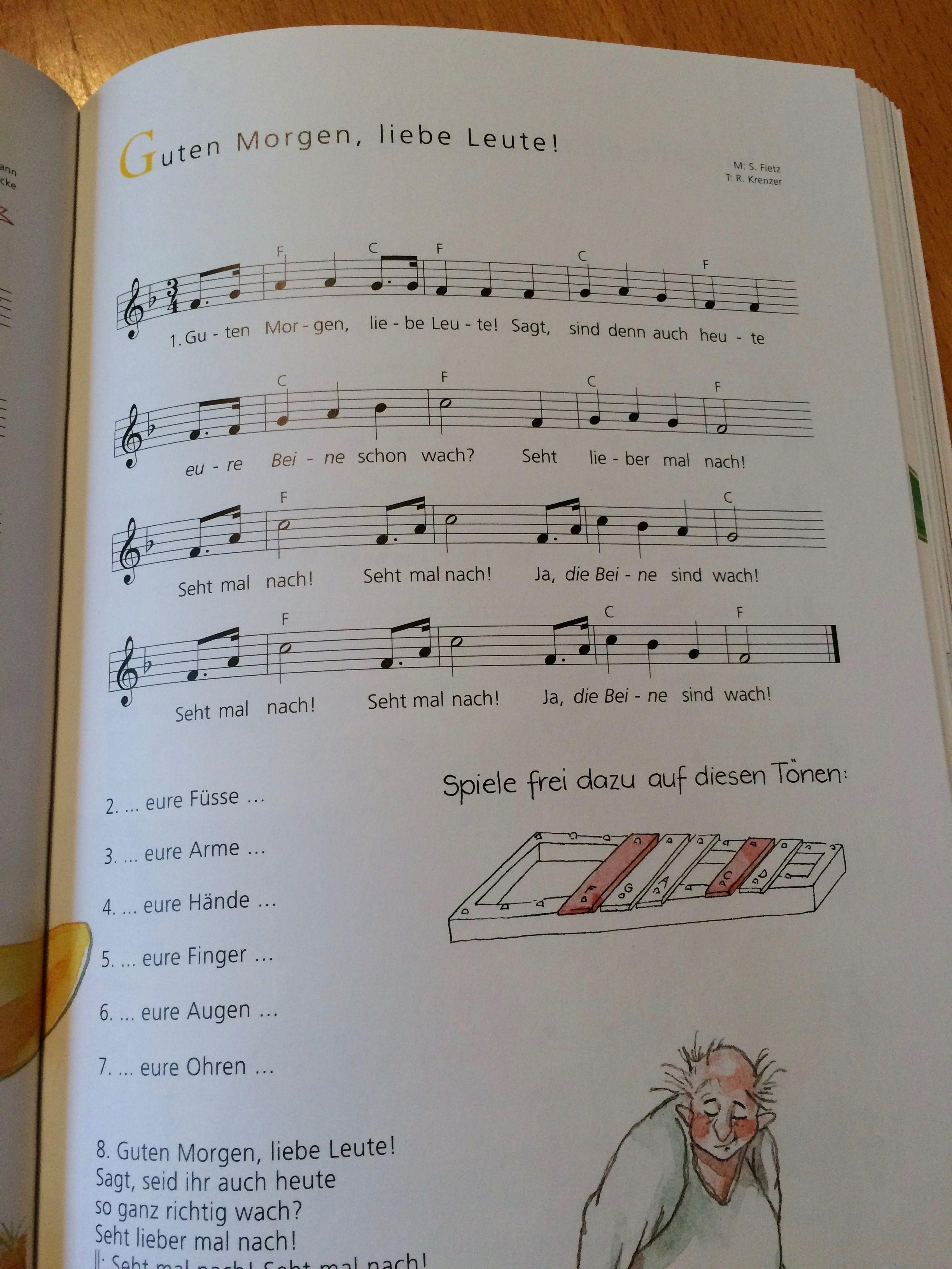 Guten Morgen Liebe Leute Guten Morgen Lieder Kindergarten