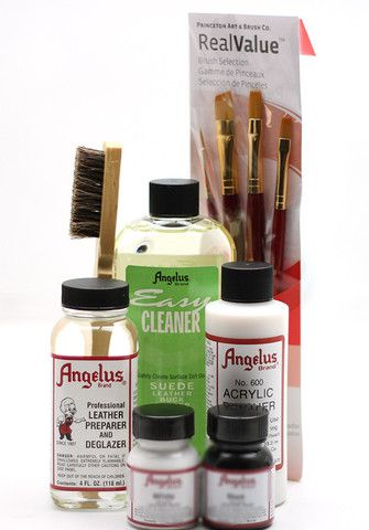 Starter Kit Angelus Brand Acrylic Leather Paints Shoe Restoration Canvas Shoes Diy Diy Leather Jacket Leather Paint