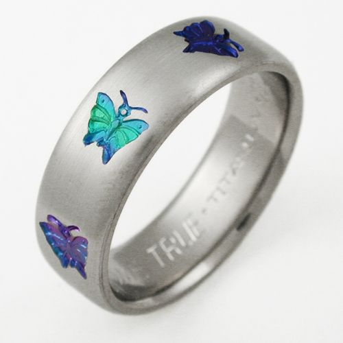 butterfly wedding rings ring with butterflies titanium wedding rings with butterflies - Butterfly Wedding Rings