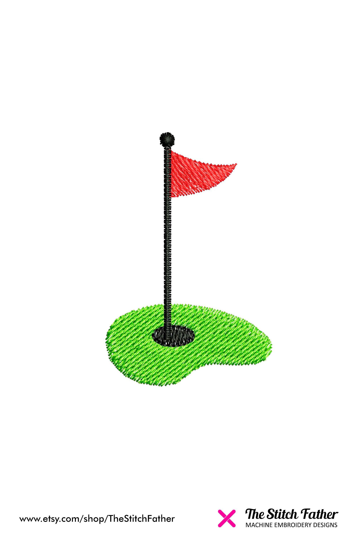 Mini Golf Hole Flag Machine Embroidery Design Hole Golf Etsy Machine Embroidery Machine Embroidery Designs Embroidery Designs