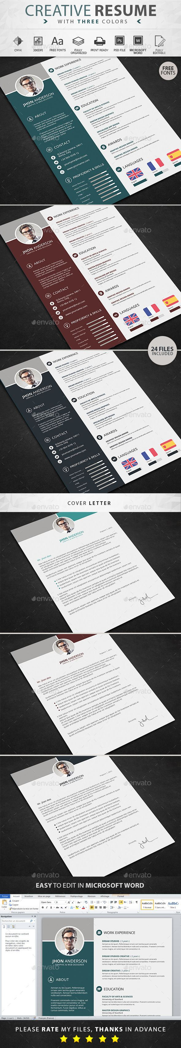Buy Resume by graphicstoll on GraphicRiver Resume