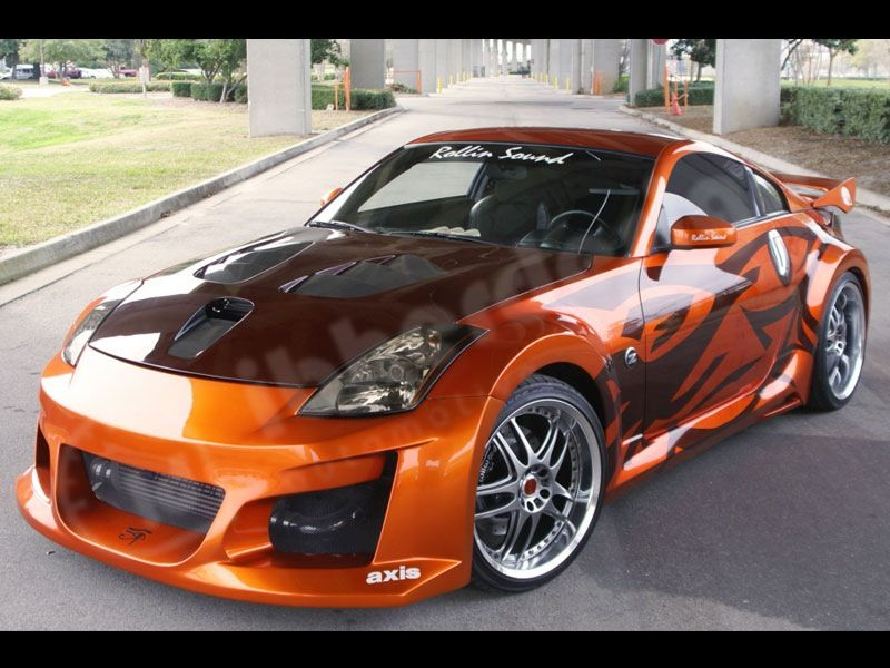 Street Race Cars >> Orange Street Racing Car Super Fast Cars Nissan 350z