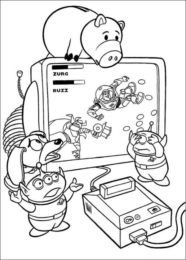 toy story coloring pages - Google-søgning disney crafts - new coloring book pages toy story