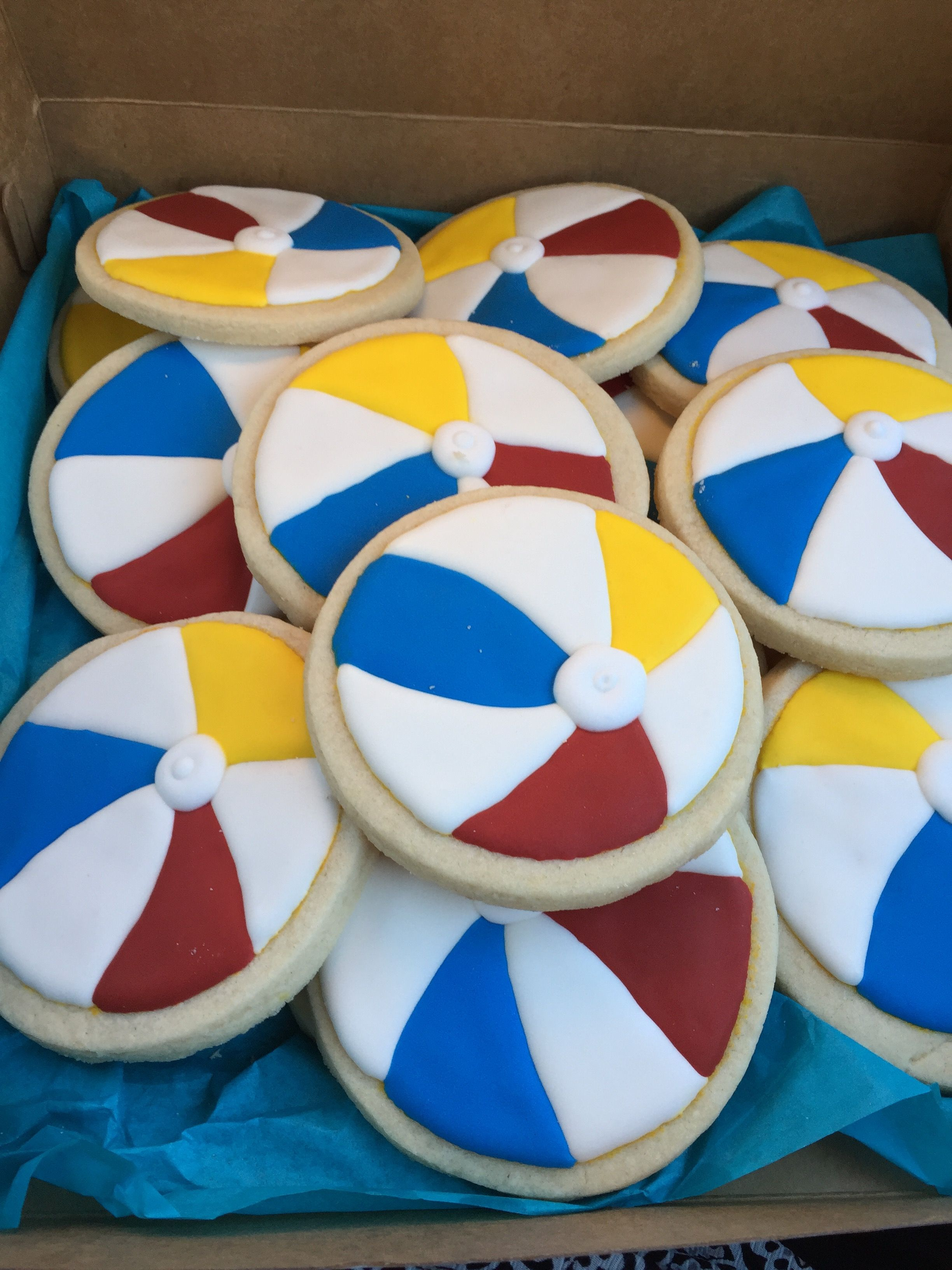 Beach ball cookies (With images)   Cookie decorating, Cute ...