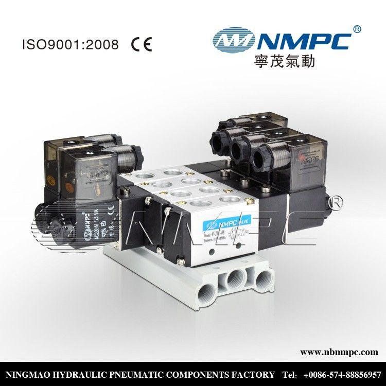 110v ac wire solenoid valve manifold 1/8