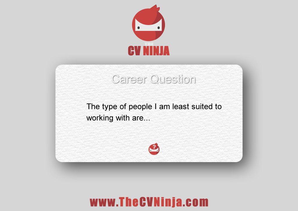 The CV Ninja Career Questions #5 #TheCVNinja #Careers #Motivation