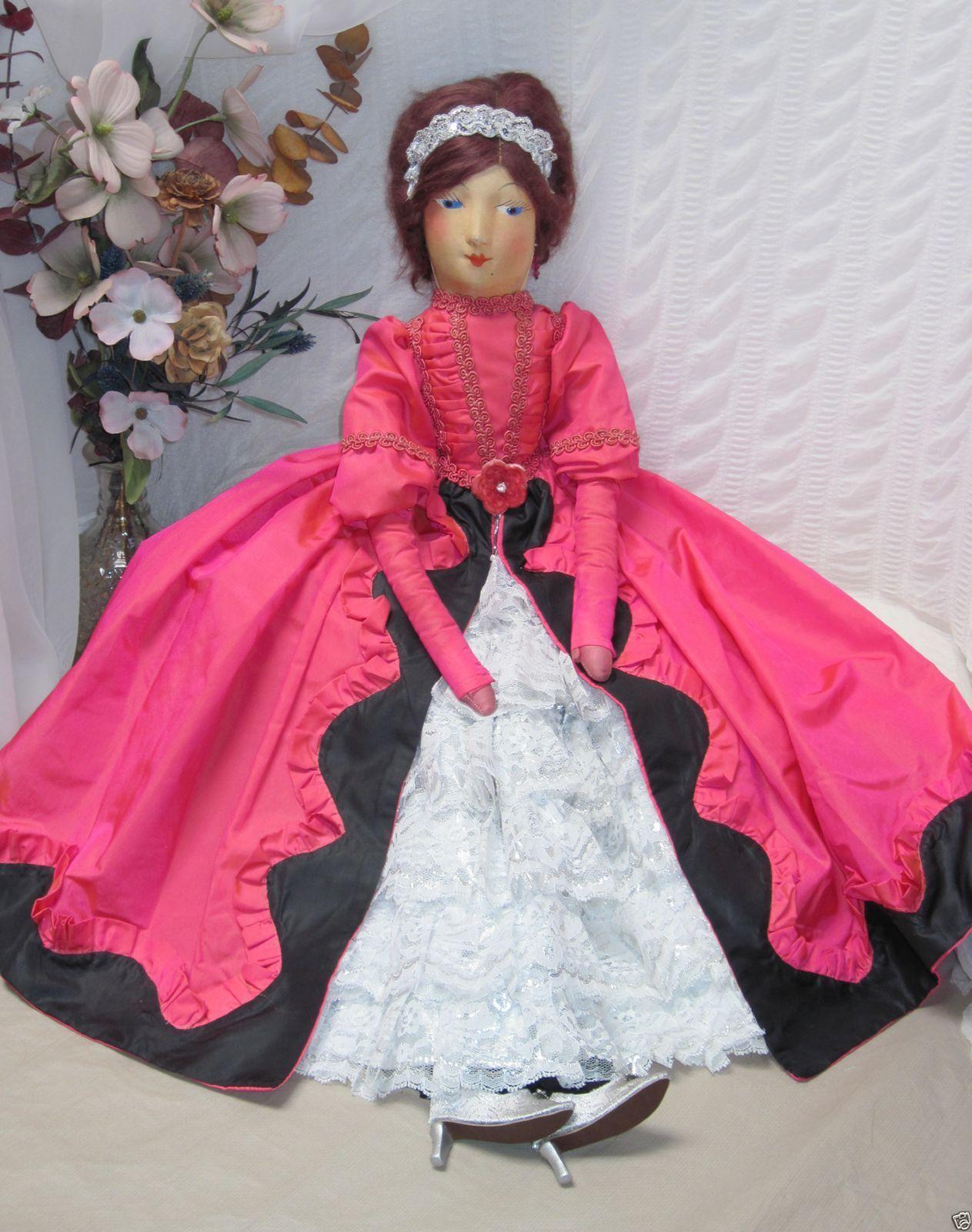 Vintage Boudoir Bed Egghead Doll Molded Cloth Face Body Unique Novelty Company | eBay