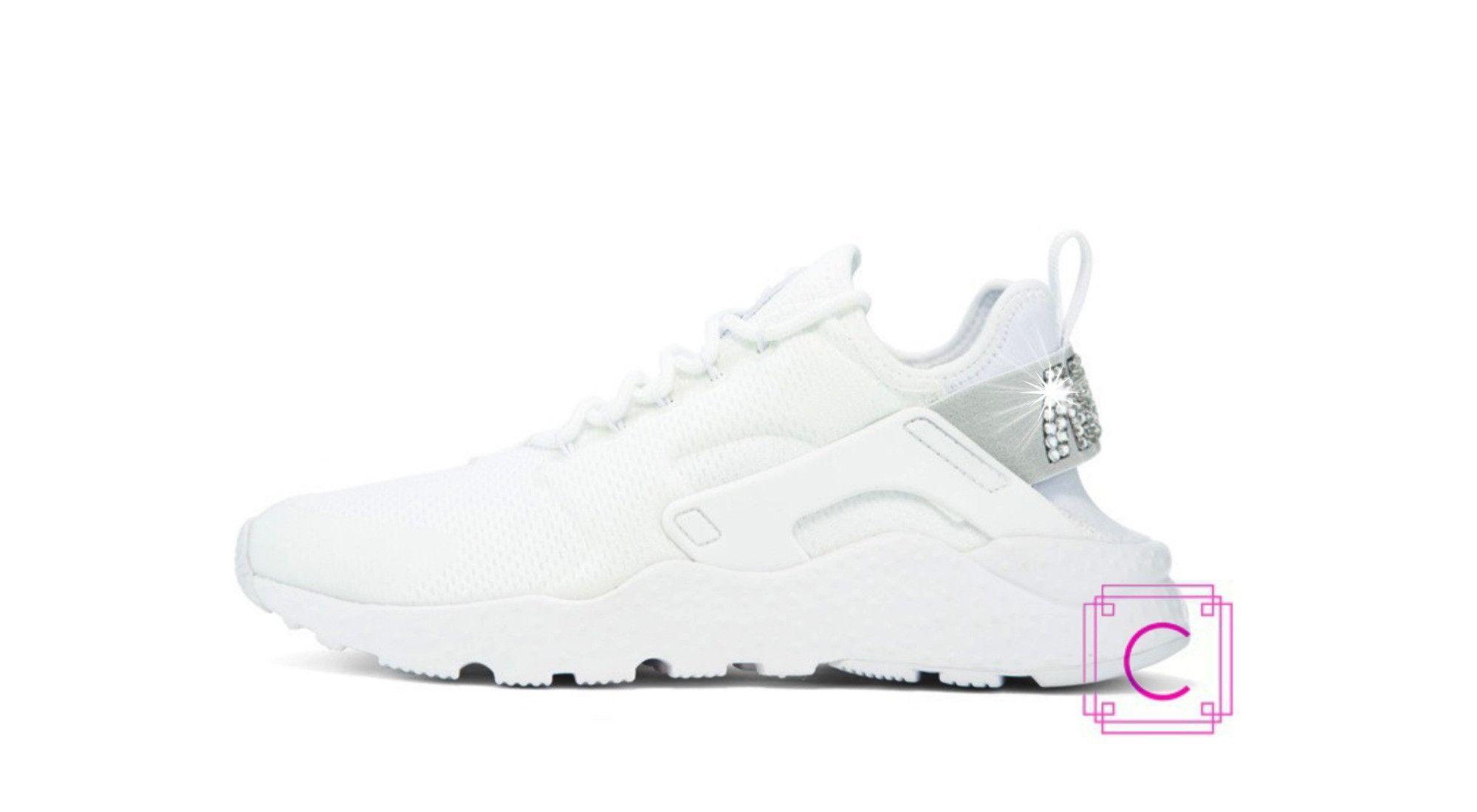 ... entire collection 2f505 d19a3 Womens Nike Air Huarache Run Ultra in  White wSWAROVSKI® Crystal deta ... a5fc9a1c4df9