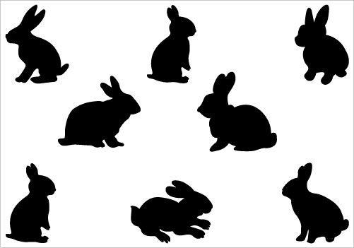 Rabbit Silhouette Clip Art Pack Rabbit Silhouette Silhouette Clip Art Bunny Silhouette