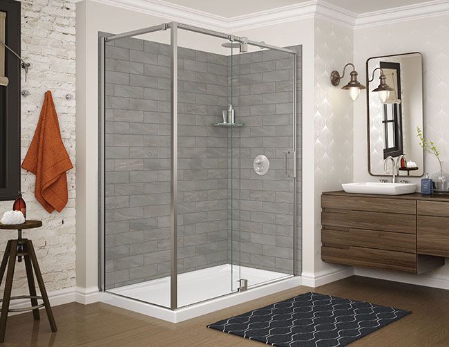 Interesting No Tile Tiled Wall System By Utile Maax Shower Wall Panels Shower Wall Maax