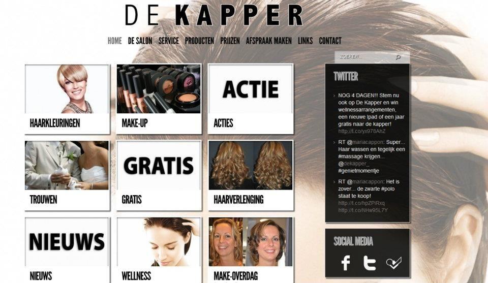 De Kapper Middelburg | Website Zeeland