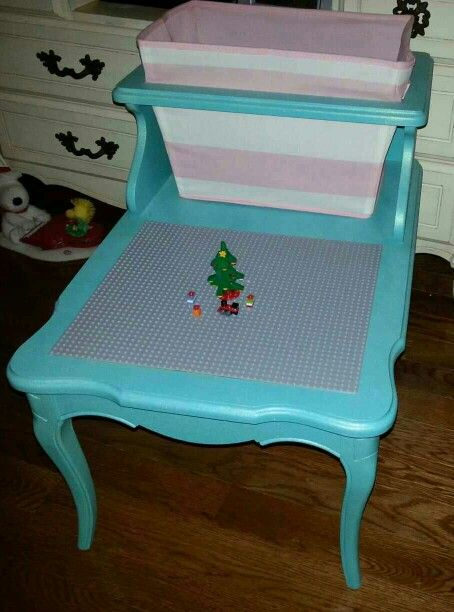 DIY Lego Table end table redo Kids gifts Pinterest Diy lego