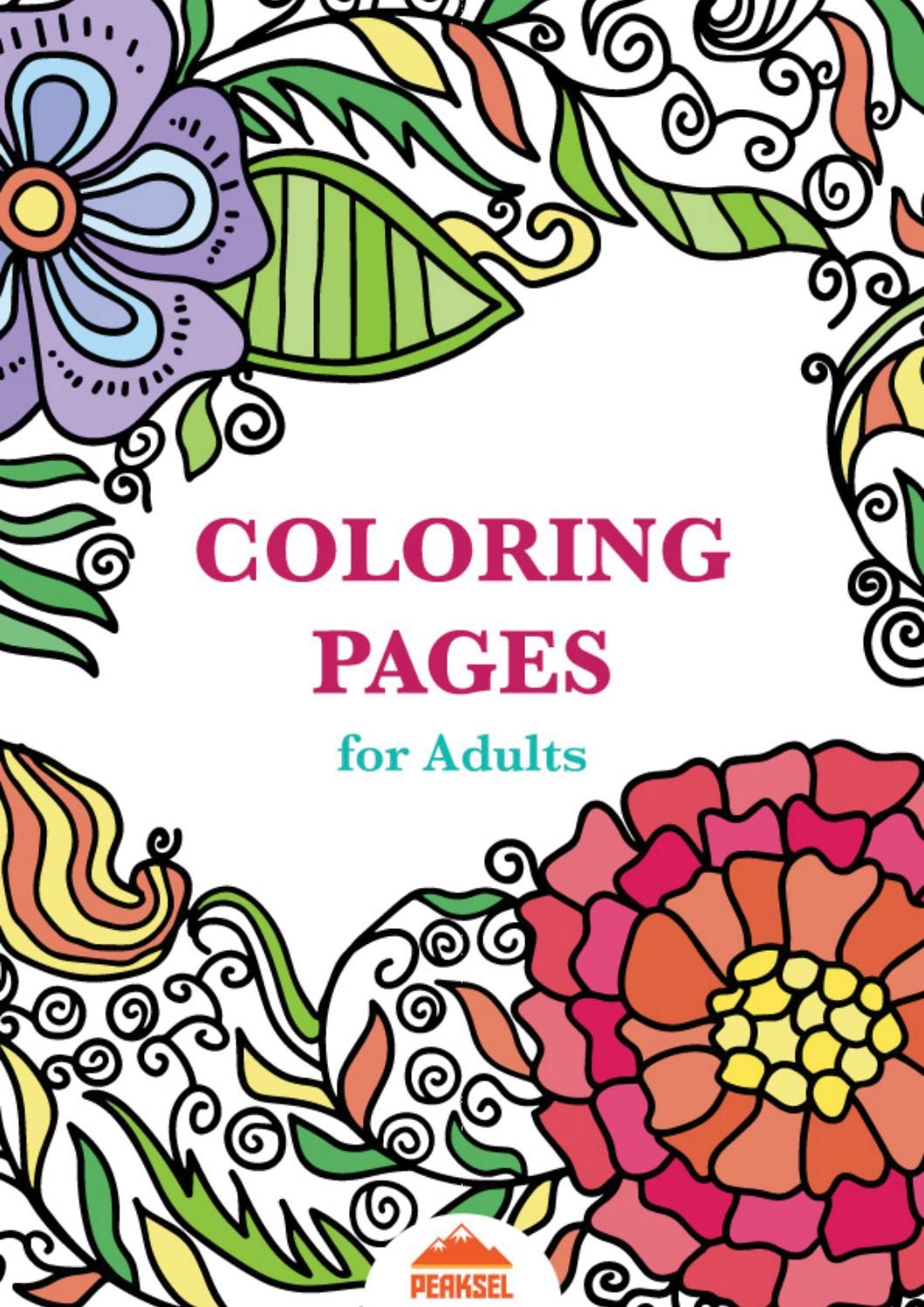 Adults and coloring books - Coloring Pages For Adults Free Adult Coloring Book