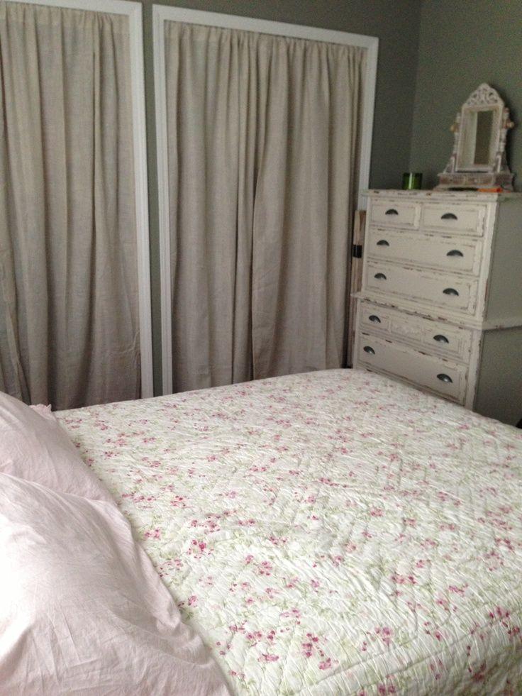 Closet Curtains Instead Of Doors Gettin Crafty Pinterest Closet Curtains Room Renovation Home Styles