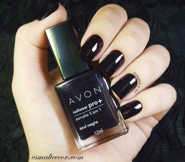 Esmalte AVON Azul Negro | avon | Pinterest | Avon, Esmalte y Azul