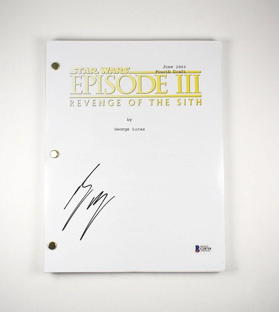 Ewan Mcgregor Star Wars Signed Script Certified Authentic Bas Coa Ewan Mcgregor Star Wars Script
