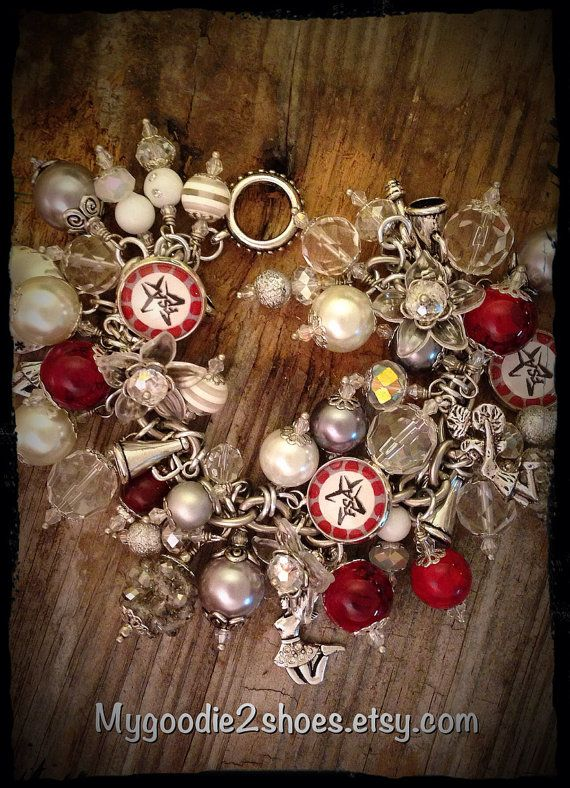 Cheer Charm Bracelet Cheer Mom Cheer by mygoodie2shoes on Etsy, $76.00