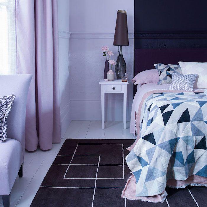 11++ Chambre gris blanc violet inspirations