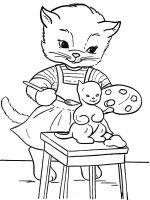 Раскраски Кошки и котята (с изображениями)   Раскраски ...