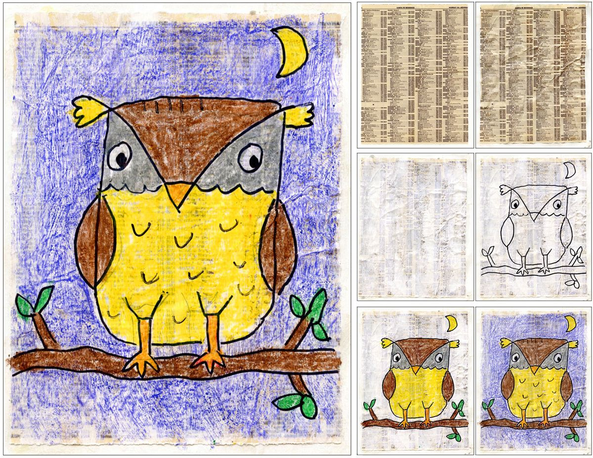Texture Owl Drawing Owls Drawing Owl Drawing Art Kids Art Projects
