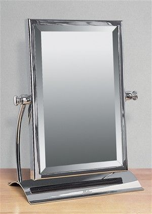adorable large rectangular bathroom mirror. MILLER CLASSIC CHROME BATHROOM RECTANGULAR FREESTANDING TABLE MIRROR  688C