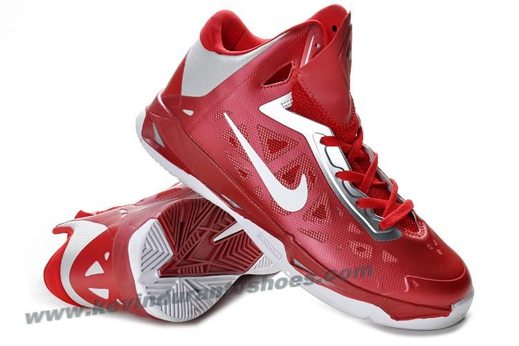 21940d4bbd4a Nike Zoom Hyperchaos Mens Basketball Shoes Gym Red White Metallic Silver  535272 600
