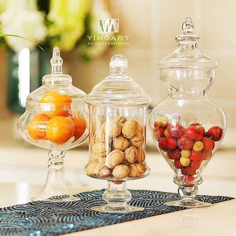 pas cher gros grand bocal de bonbons en verre avec couvercle en verre pour le mariage acheter. Black Bedroom Furniture Sets. Home Design Ideas