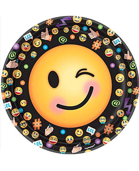 Emoji Lol Amscan 9 Oz Paper Cups Party Supplies Party Plates