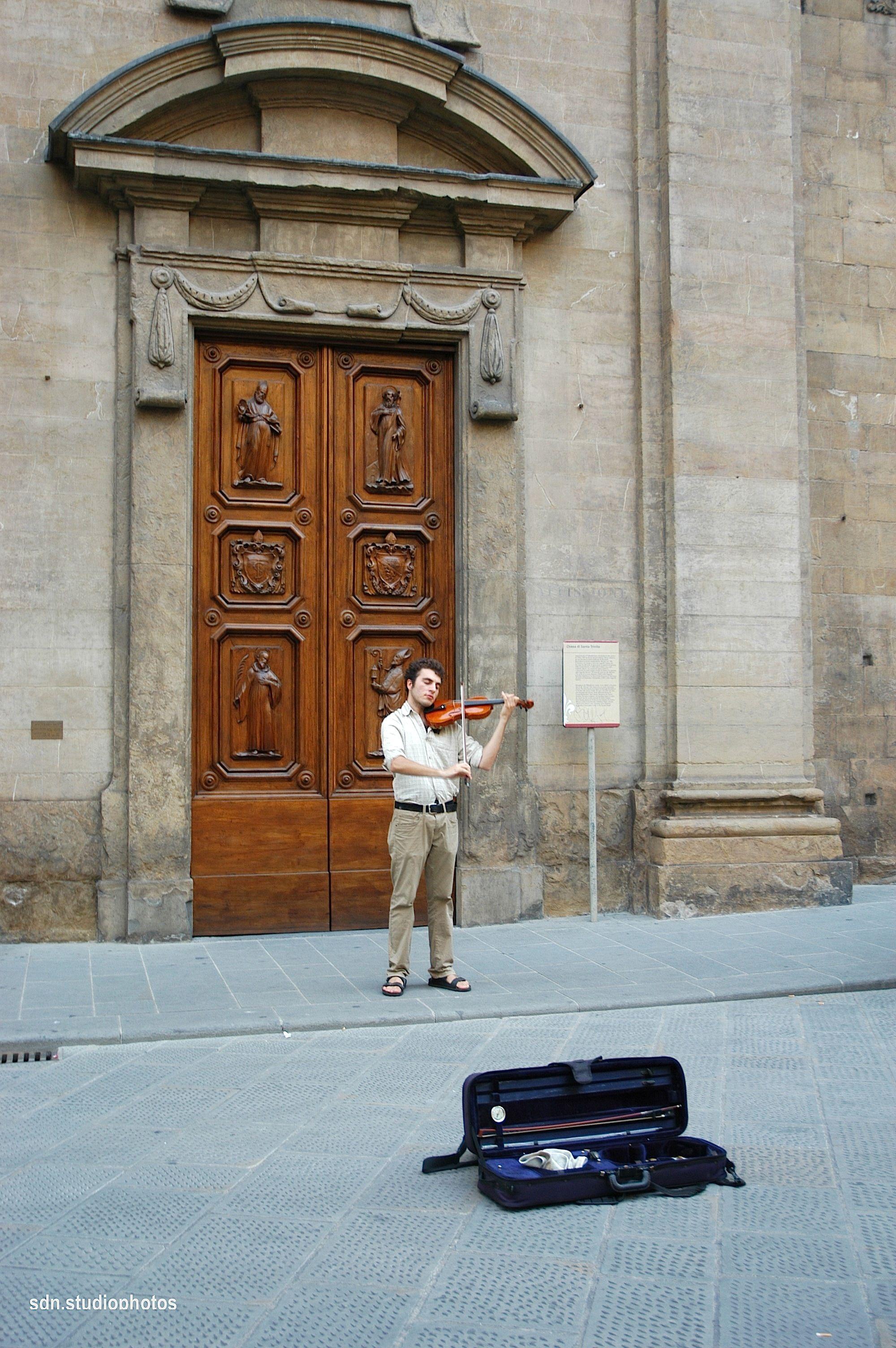 Piazza Santa Trinita, Firenze (Toscana, Italy) - by Silvana, agosto 2014