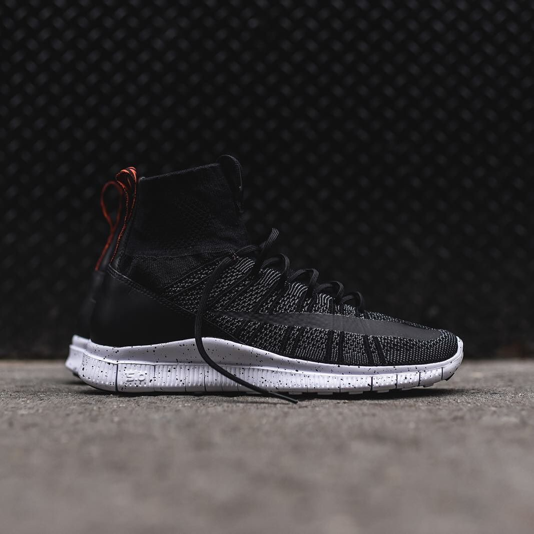 nike free flyknit nsw black anthracite honed