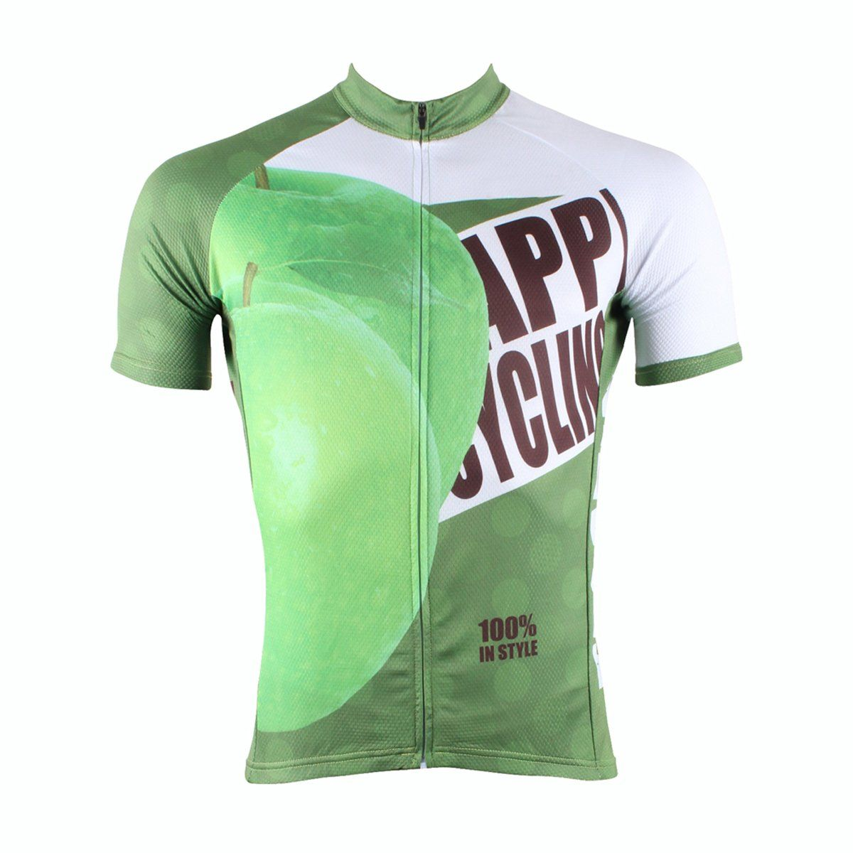 Happy Cycling Summer Fruit Green Apple Men s Short-Sleeve Cycling Jersey  Suit Biking Wear Breathable 9f65ccccd