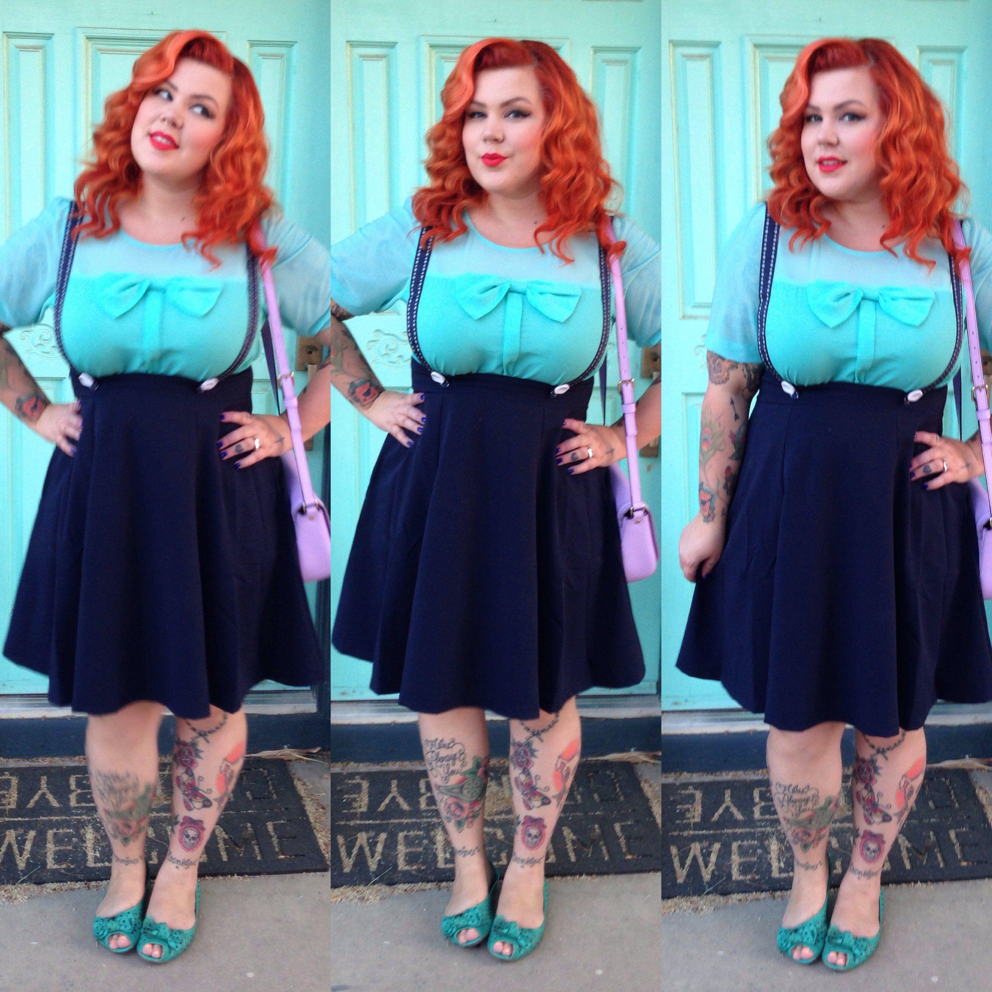 she's all tiki midi skirt | suspender skirt idea | mode pour