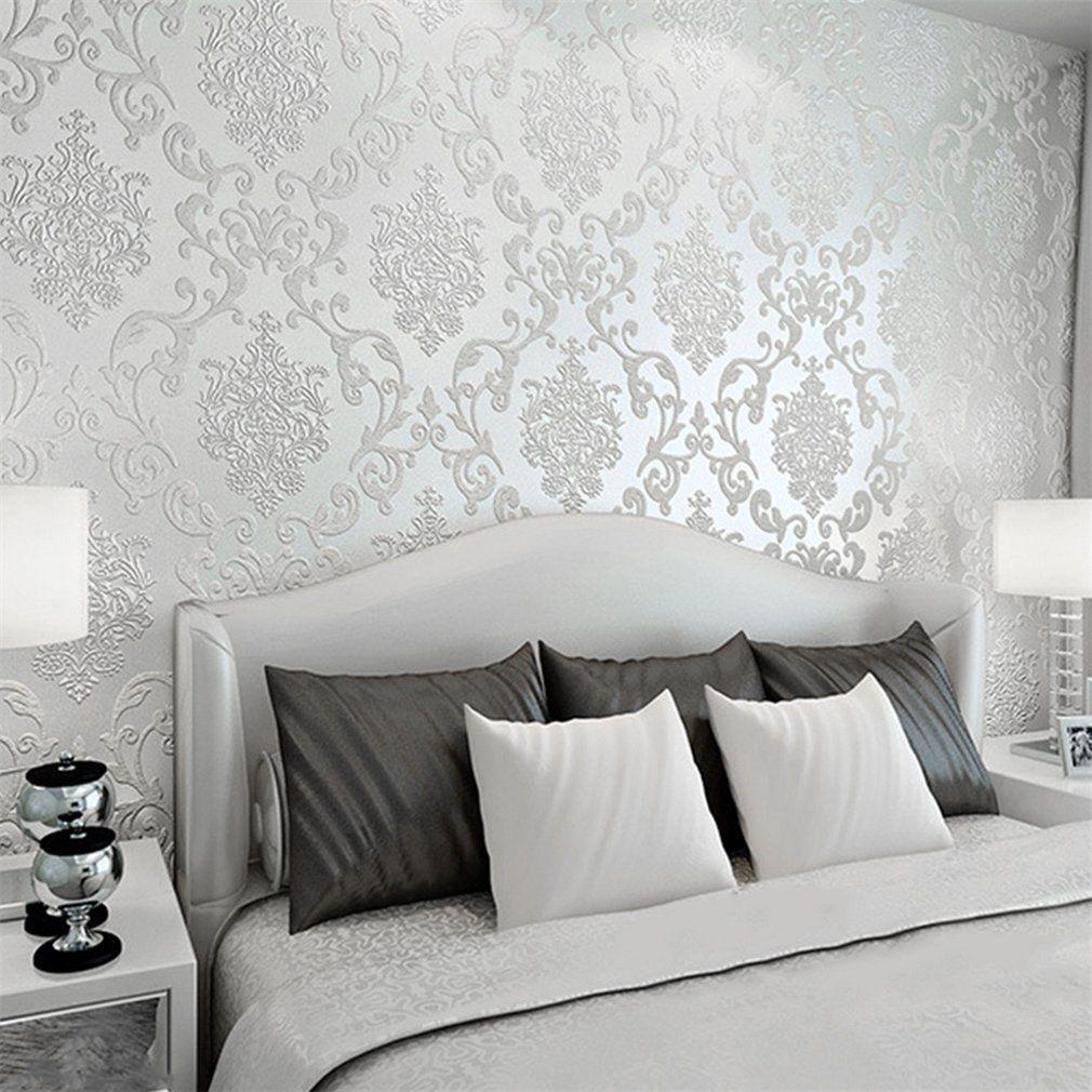 15M Optik 15D Vlies Wand Tapete Barock Rolle Wandtapete Dekoration