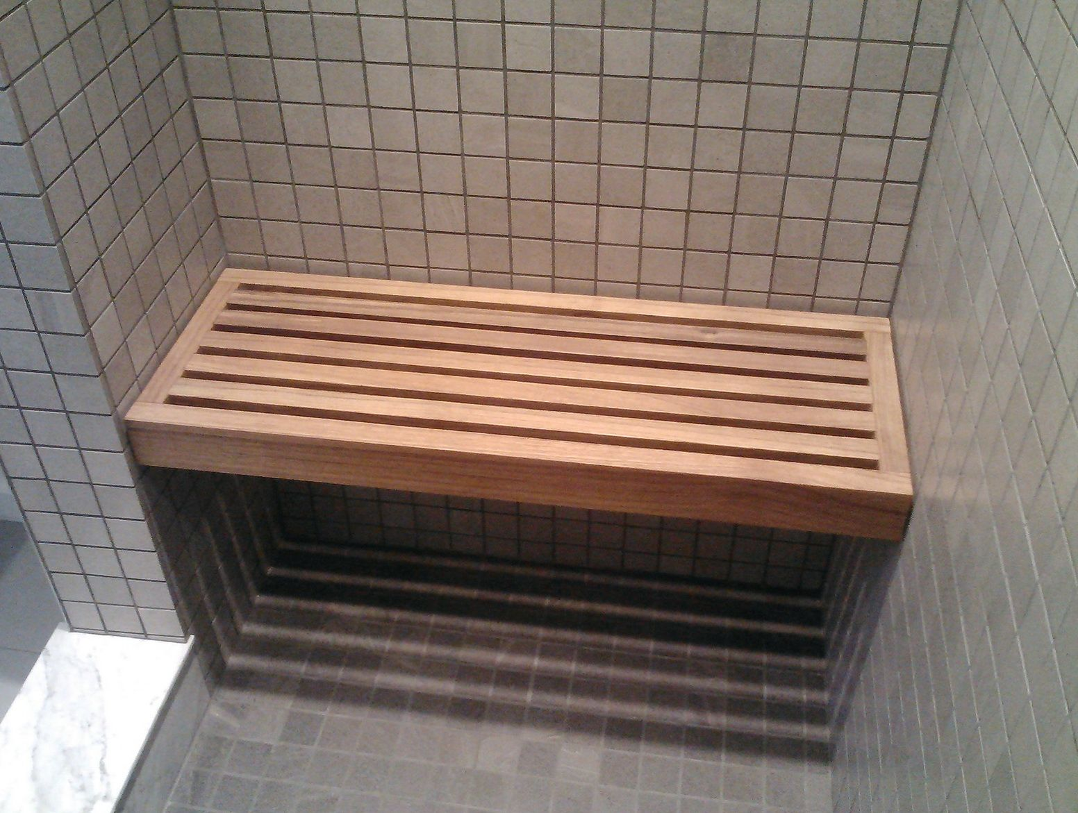 Floating Teak Shower Bench | Bench | Pinterest | Shower benches ...