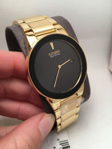 6b3c169da Checkout Citizen Eco-Drive Men's Gold Plated Axiom Chronograph Watch –  Price: Less than $300