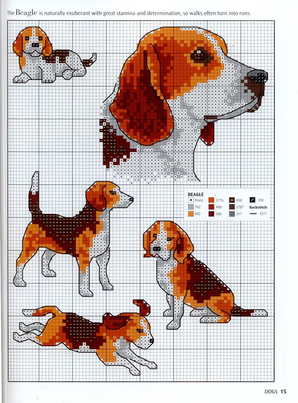 Needle-Works Butterfly: Dogs And Puppies Cross Stitch