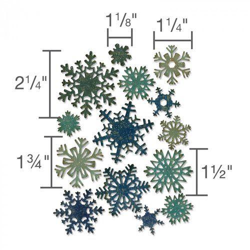 Sizzix - Tim Holtz - Alterations Collection - Thinlits Die - Mini Paper Snowflakes #floconsdeneigeenpapier
