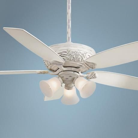 54 minka aire classica 3 light provencal blanc ceiling fan 4j037 lamps plus