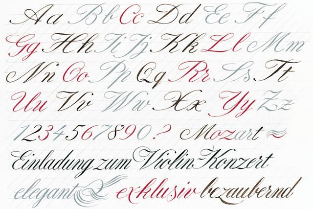 englische schreibschrift kalligrafie hermann k ssinger landsberg hand lettering. Black Bedroom Furniture Sets. Home Design Ideas